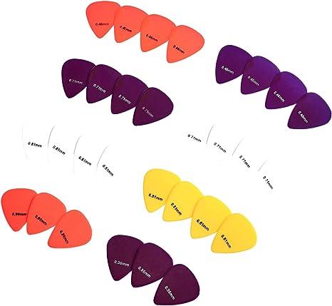 AmazonBasics - Púas de guitarra de colores lisos, de celuloide, 30 ...