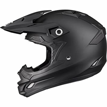 THH TX-24 - Casco de Motocross (Talla XXL), Color Negro Mate
