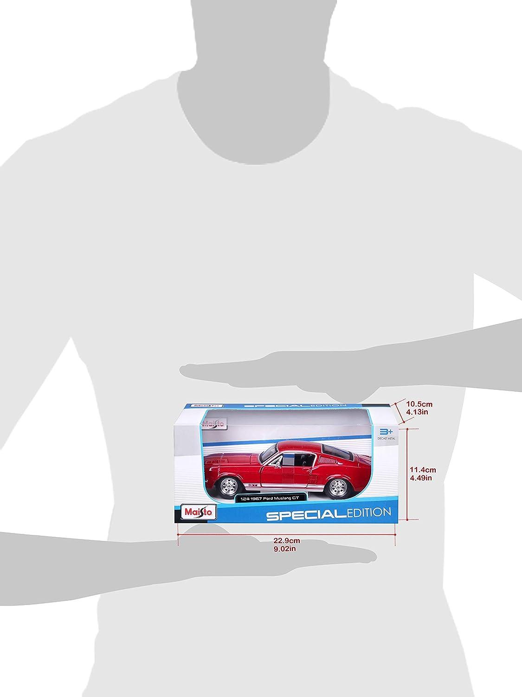 Mod/èle /À L/échelle 31260bl V/éhicule Miniature Ford Mustang Gt Maisto Rouge Echelle 1//24