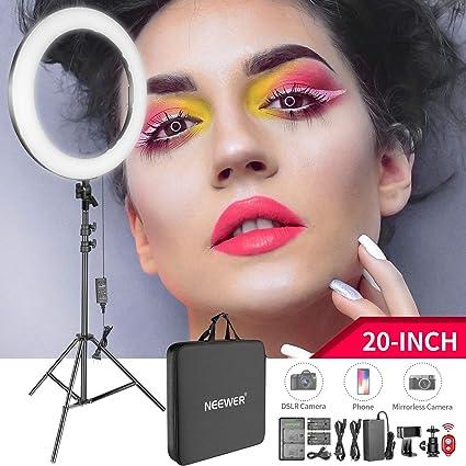 dab273563 Neewer 20-inch LED Ring Light Kit for Makeup Youtube Video Blogger Salon -  Adjustable