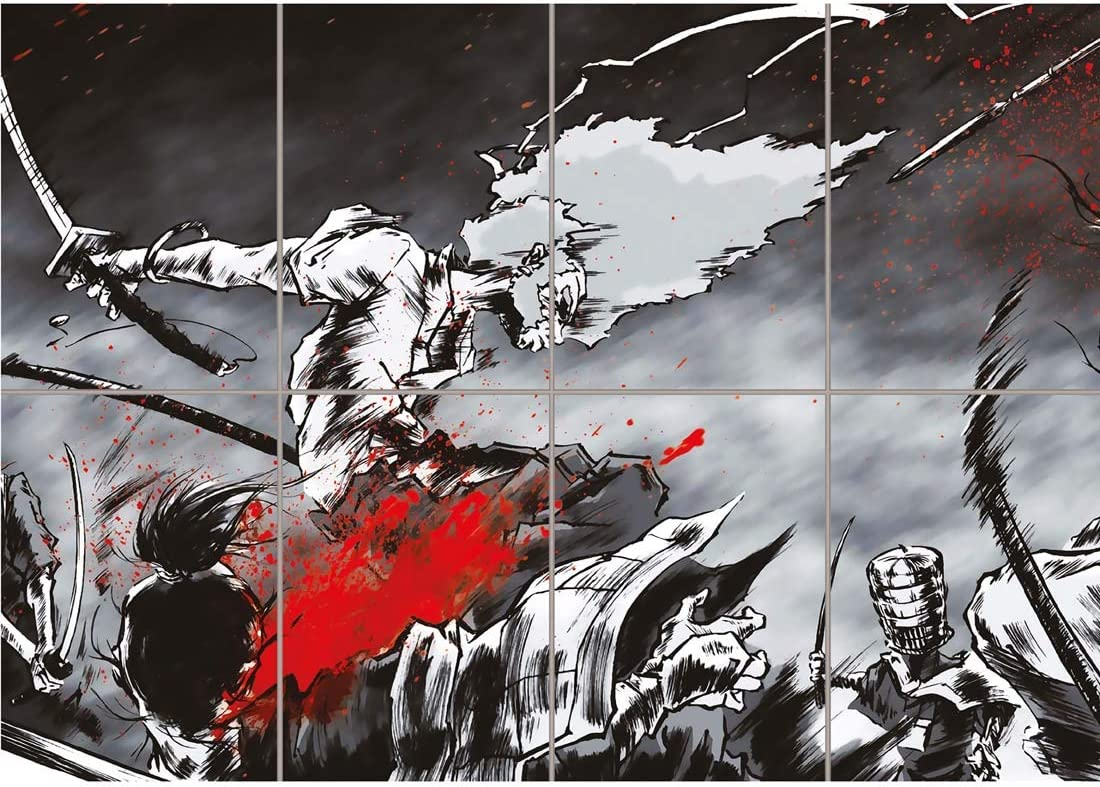 Doppelganger33 LTD Afro Samurai Manga Anime Home Decor Wall Art Multi Panel Poster Print 47x33 inches