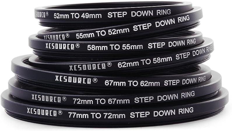 Adaptador filtro step-down anillo adaptador 72mm-52mm 72-52 adaptadores anillo