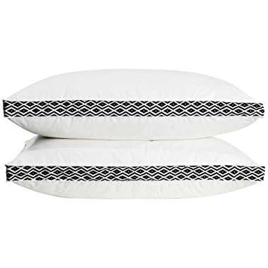 puredown Down Feather Bed Pillows Gusseted Pillows for Side and Back Sleepers Set of 2 King Size
