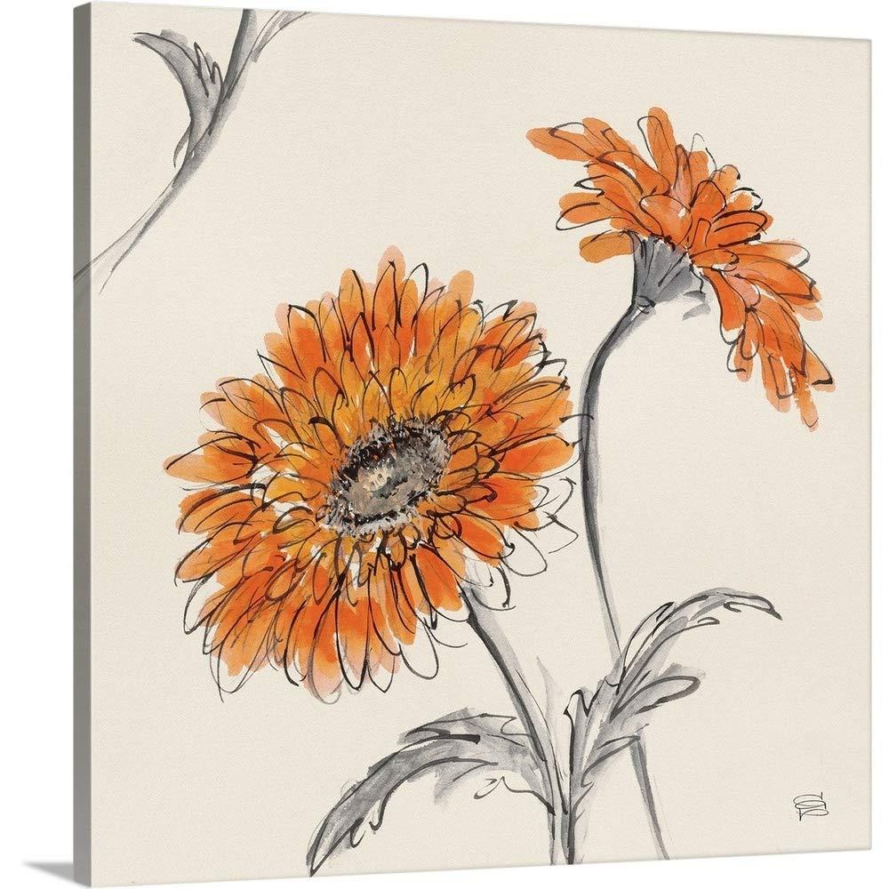 Chris Paschkeプレミアムシックラップキャンバス壁アート印刷題名オレンジガーベラII 16