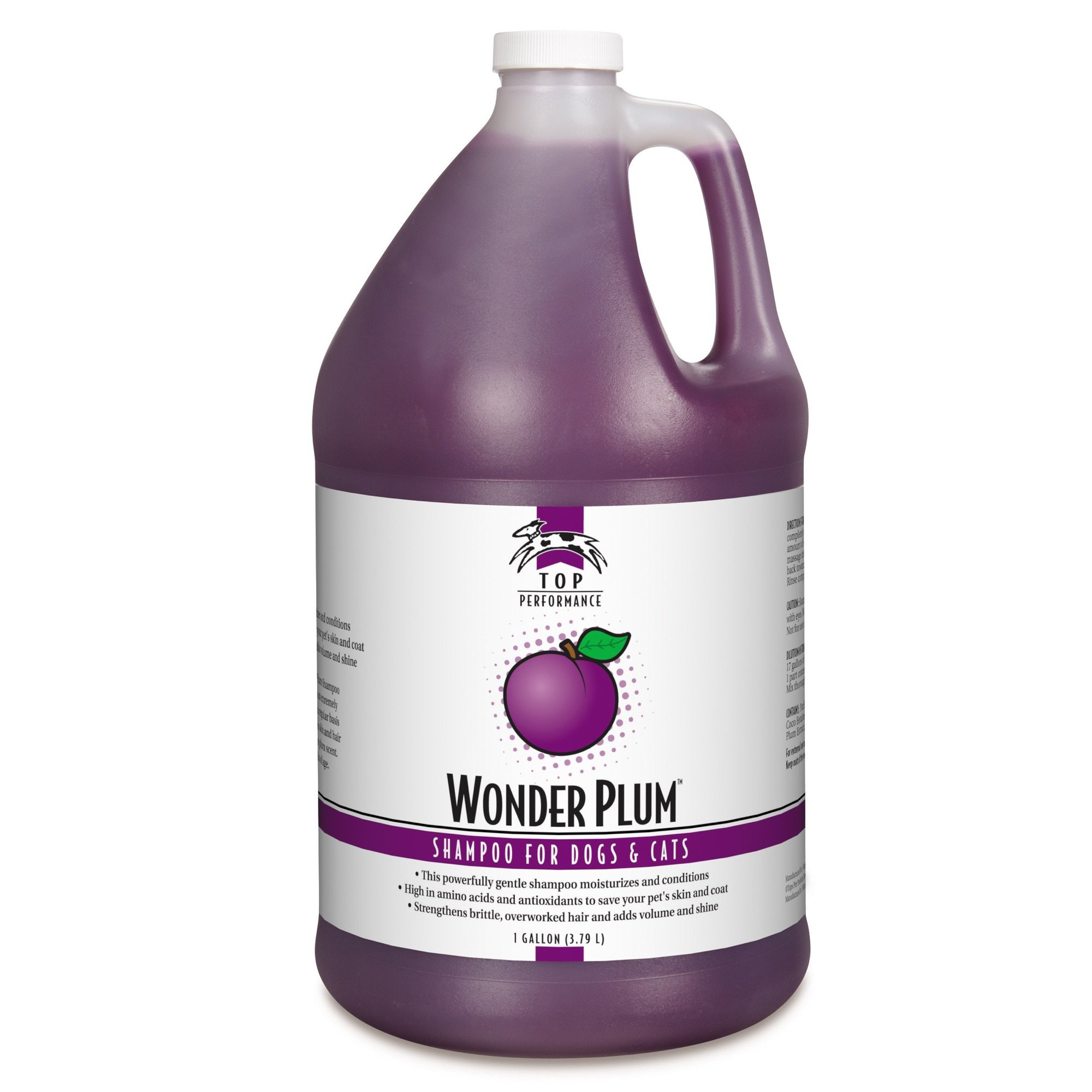 Top Performance Wonder Plum Dog and Cat Shampoo, 1-Gallon by Top Performance