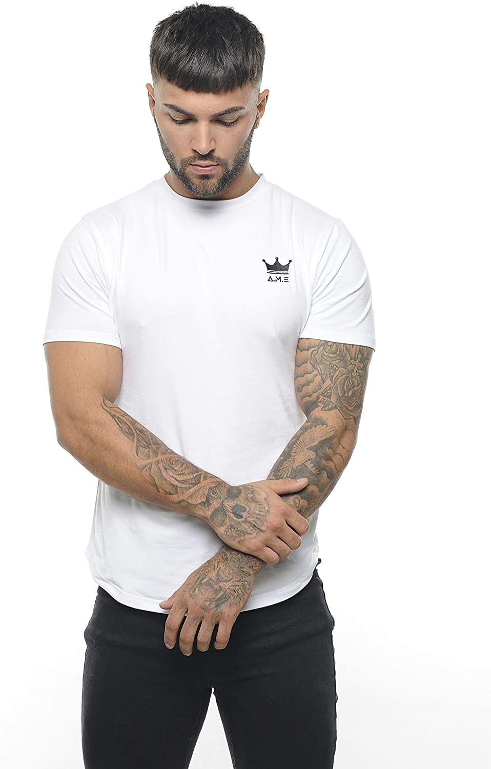 A.M.E Designs Quality Fitted Mens T Shirt Street Wear Gym Wear