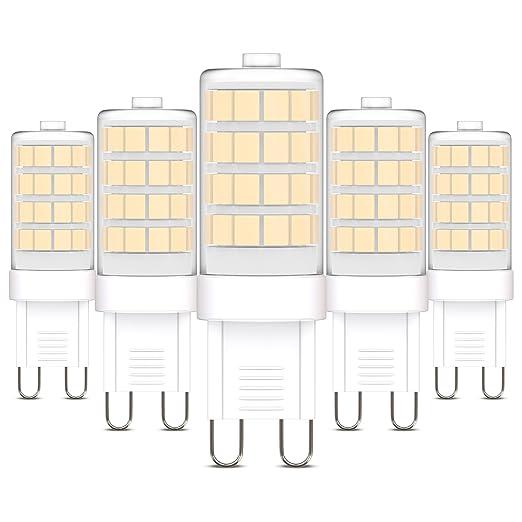 Bombillas LED G9 I 3,5 W I Ø 16 mm I Pack de 5 Bombillas