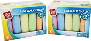 Play Day Sidewalk Chalk 20 Pieces (2 Pack)