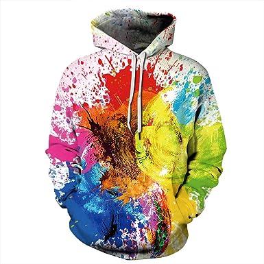Jonyn Unisex 3D Print Sweaters Pullover Sweatshirt Hoodie for Men Women Cool Graffiti S