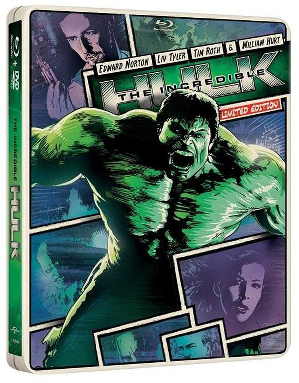 Blu-ray : Incredible Hulk (Limited Edition, With DVD, Ultraviolet Digital Copy, Steelbook, 2 Pack)