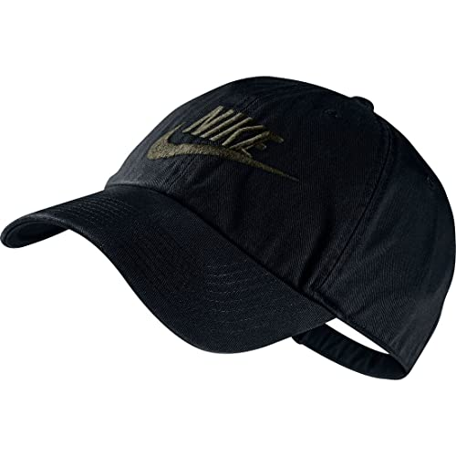 5bf2afe0b4ad3 ... best price nike unisex futura washed h86 adjustable hat black medium  olive 626305 010 99e92 e86df