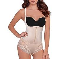9efa12535d SHAPERX Women Seamless Firm Control Shapewear Faja Open Bust Bodysuit Body  Shaper