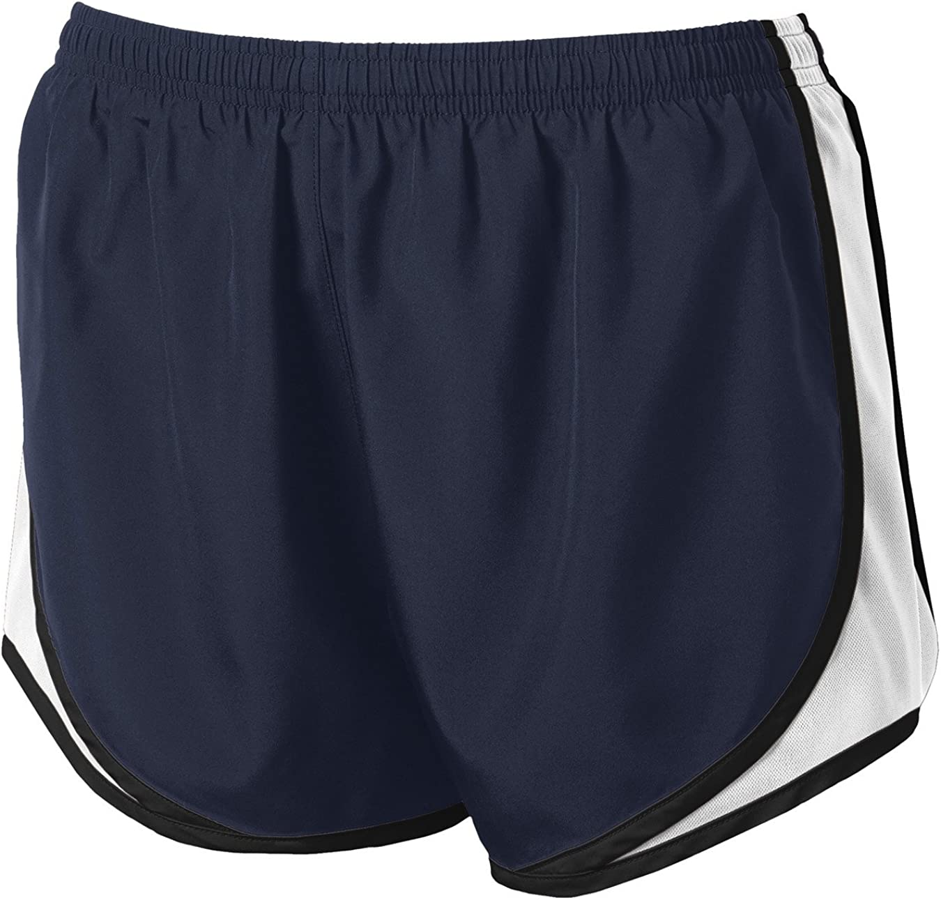 Joe's USA Ladies Moisture-Wicking Track & Field Running Shorts. True Navy/White/Black-4XL