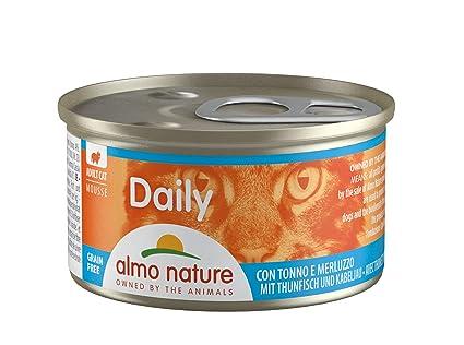 Almo Nature - Mousse diario para gato con tuna y cuna, 85 g (paquete