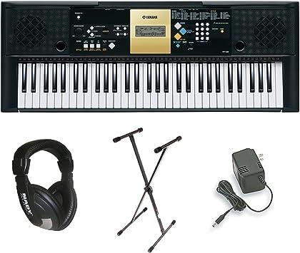 Yamaha Ypt 220 61 Touches Clavier Personnel Avec Adaptateur Secteur Support De Clavier De Luxe Et Casque Professionnel Amazon Ca Instruments De Musique Scène Et Studio