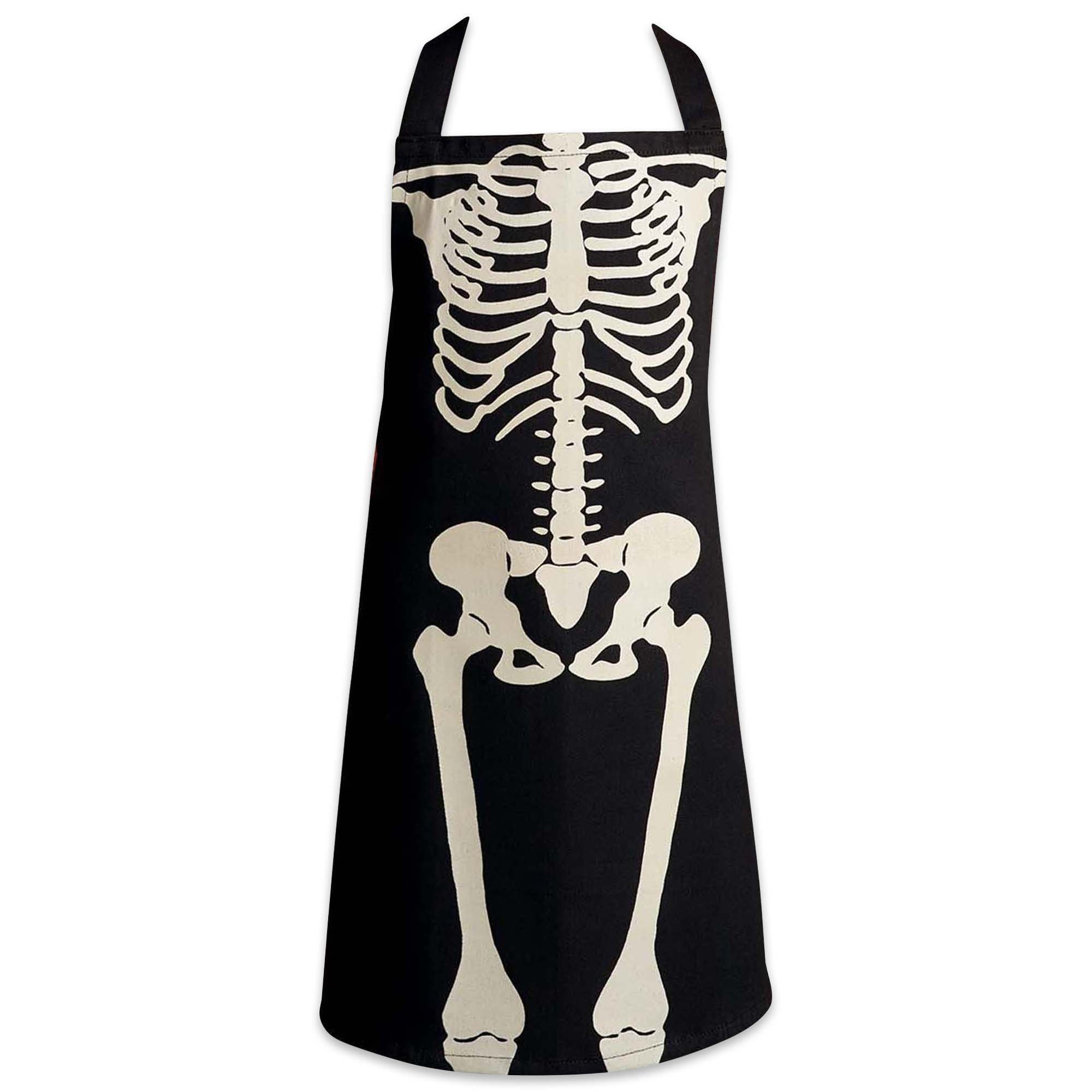 Excello Brio DII Halloween Skeleto Children Apron, 17x21, Perfect for Kitchen Cooking & Backing, Art Craft and patinting for Kids and Toddler