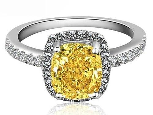 18 K oro blanco GP AAA Zircon cuadrado de cristal Swarovski Lady novia boda anillo de