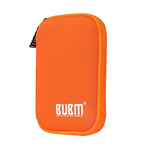 BUBM Estuche Mini para Ordenar USB Funda Suave para Proteger USB Perfectamente, Tamaño adecuerdo para llevar 9 Gomas Elásticas para Ajuestar USB, ...