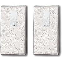 20 zakdoeken (2 x 10) zakdoeken Moments ornament parel - effen parelmoer met ornamenten in reliëf/bruiloft/vreugdetranen