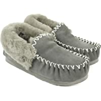 EVER UGG Ladies Double Sole Popo Moccasins Slippers #11607