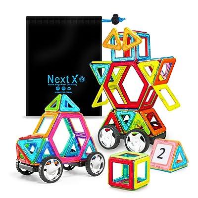 Bloques de construcción magnéticos, bloques de construcción magnéticos 3D Juego de inspiración de construcción estándar para niños - Juguetes educativos creativos para niños (46 pcs): Juguetes y juegos
