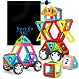 NextX Educational Building Blocks sets,46 Pieces Magnetic Building Sets Toys for 3 Years Old Boys and Girls