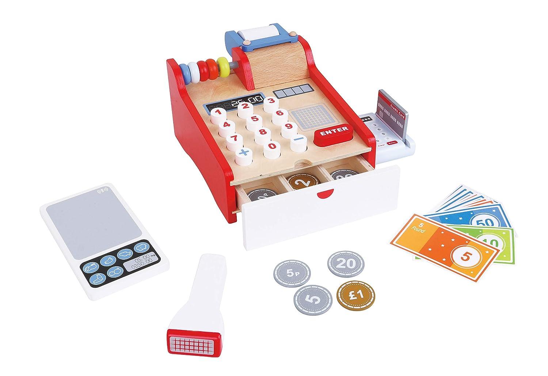 LELIN Wooden Cash Register Childrens Shopping Shop Grocery Checkout Till Toy SKC4124