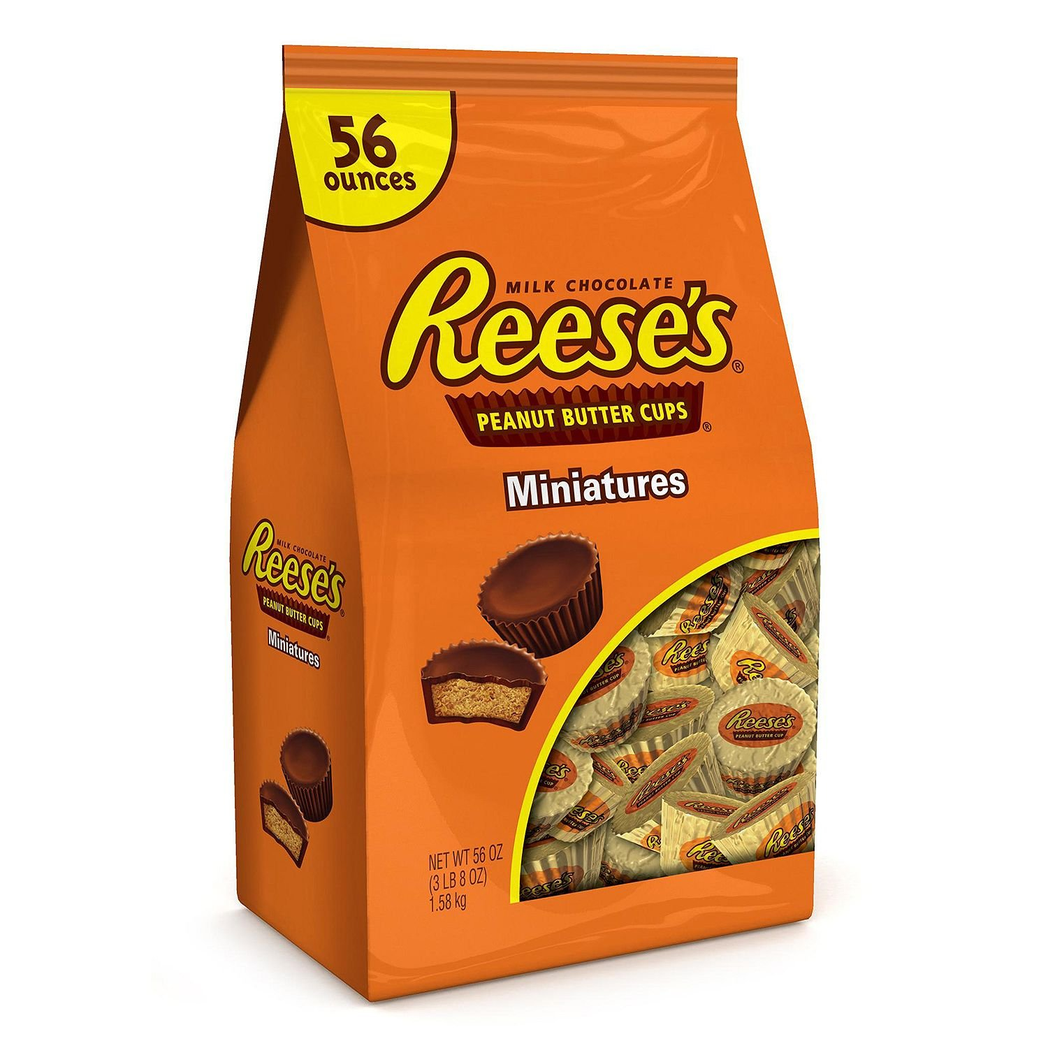 Reese's Peanut Butter Cup Miniatures (56 oz.) (pack of 6) by Reese's