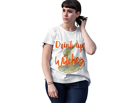 4f70eda42b8 Drink Up Witches Cute HattoweenTop for Plus Size Women V-Neck (1xl). Roll  over image to zoom in