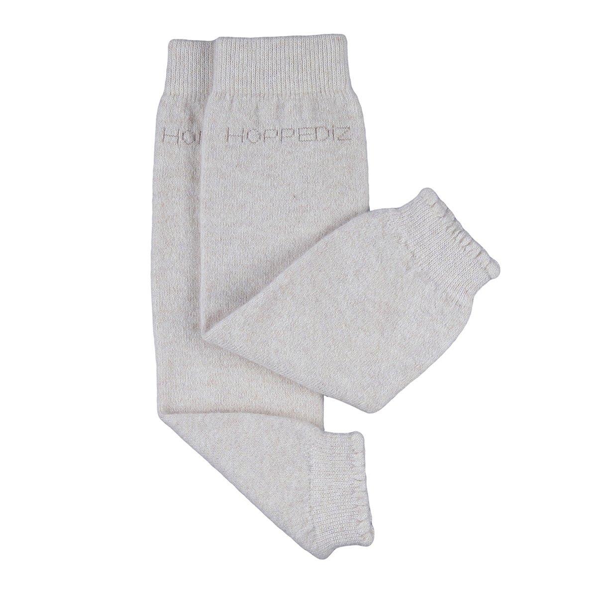 Calentadores para piernas Hoppedizde cachemira y lana merino para bebés, color crema HOPPEDIZ GmbH & Co. KG Stk-cre