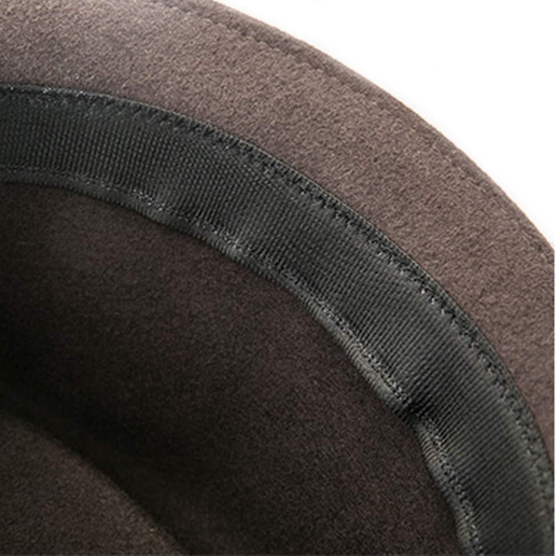 DOSOMI Vintage Winter Men Fedora Jazz Hat Short Brim Australia Wool Felt Hat