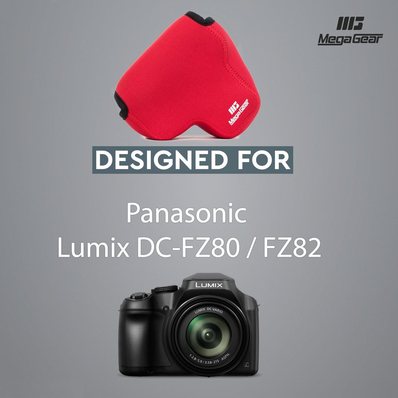 /Étui de Protection sans Reflets en N/éopr/ène pour Panasonic Lumix DC-FZ80//FZ82 avec Un Mousqueton pour faciliter Le Transport MegaGear /Étui Ultra-L/éger Appareil Photo Neoprene Sac