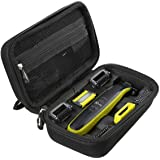 Hard Travel Carry Case for Philips Norelco OneBlade Face + Body hybrid electric trimmer and shaver QP2630/70 QP2630/72 by Aproca
