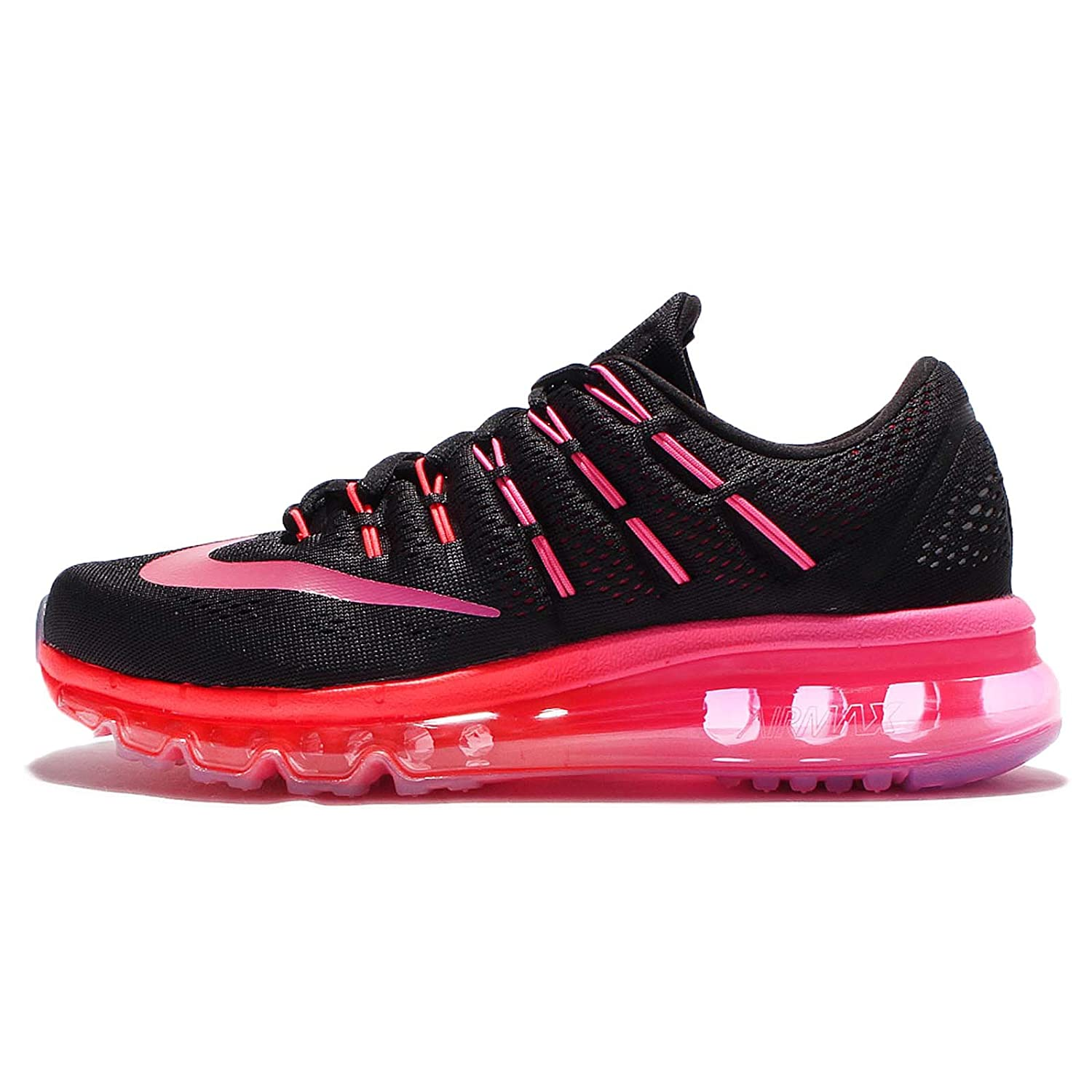 Nike Womens Air Max 2016 Running Shoes Black Multi Colo Noble Red 806772-006 Size 7
