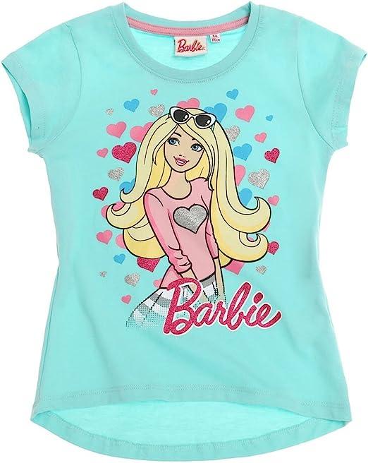 Mattel-barbie - Camiseta de manga corta - para niña azul: Amazon.es: Ropa y accesorios