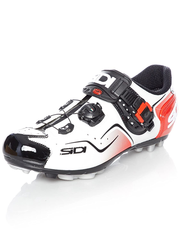 SidiケープMTBサイクリング靴 – ホワイト/ブラック/レッド B01MA1P2MR 44 EUR [US 10