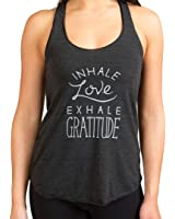 "Inner Fire ""Inhale Love Exhale Gratitude"" Yoga Racerback Tank Top"