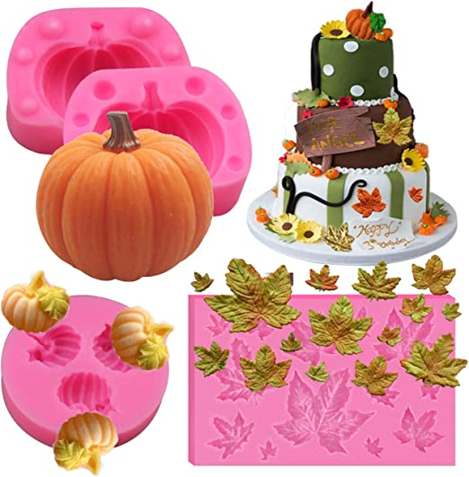 Fondant Halloween Decorations.Pumpkin Halloween Silicone Mold Cake Decorating Tool For Fondant Fall Harvest Thanksgiving Halloween Cake Decorations Mold Chocolate Candy Clay Tools Candy Making Molds Kitchen Dining Ekbotefurniture Com