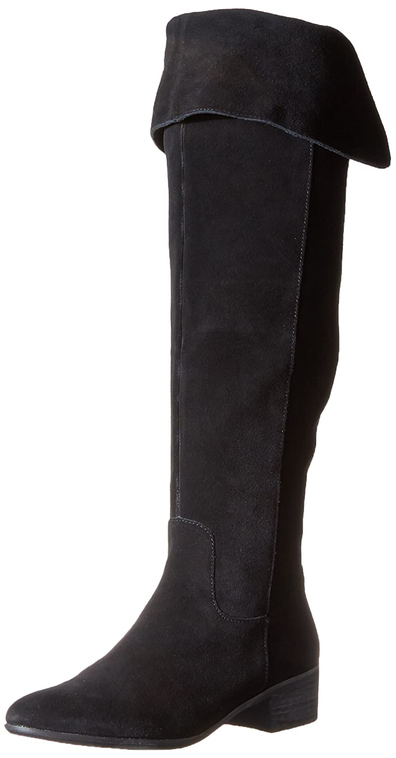 Steve Madden Women's Tyga Motorcycle Boot B00NVM51S0 5.5 B(M) US|Black Suede