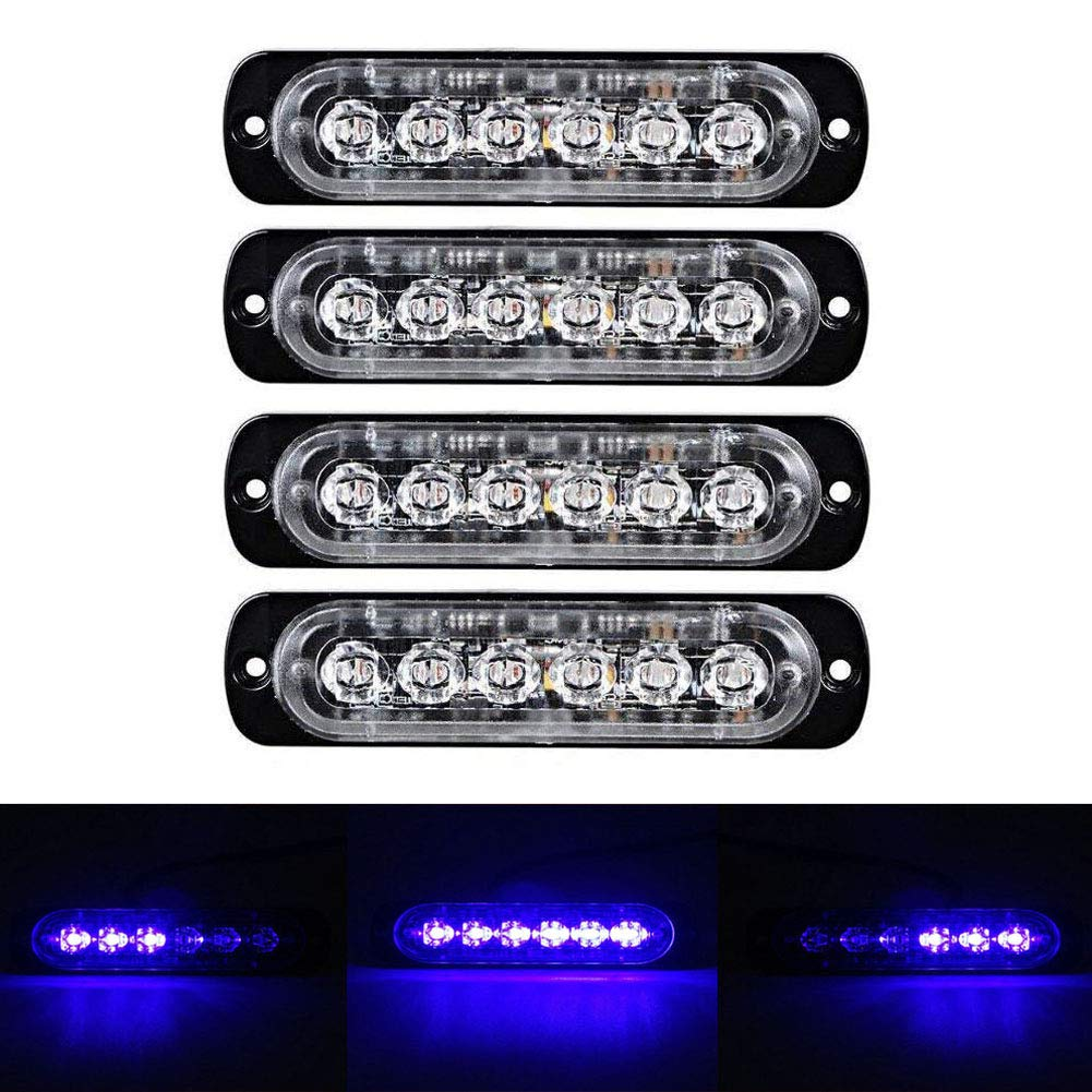 XT AUTO 6LED Car Truck Emergency Beacon Warning Hazard Flash Strobe Light Amber//Amber 4-pack