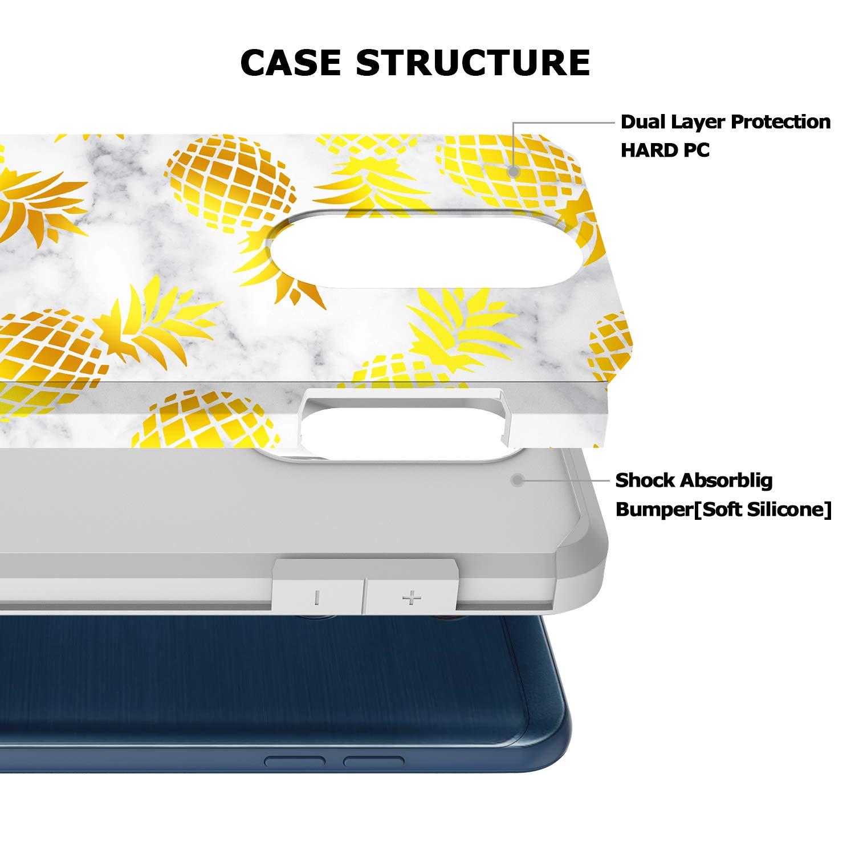 GORGCASE LG K30 Case, LG K10 2018 Case, LG Premier Pro LTE, LG Harmony 2 with Screen Protector, Slim Cute Shockproof Hard TPU Girls Women Men Armor Protective Cover for LG Phoenix Plus Pineapple by GORGCASE (Image #2)