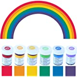 Wilton Icing Colour Gel Paste Rainbow Colours Set with Red No Taste