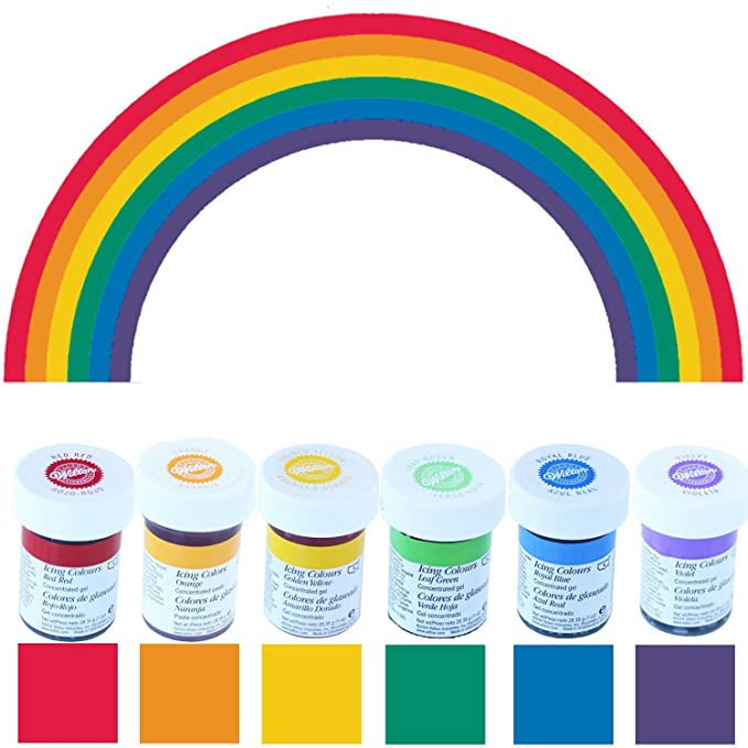 Colorantes alimentarios Wilton en formato ahorro (6 x 28 g ...