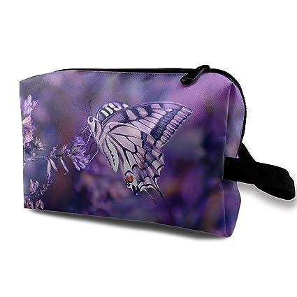 Bolsas de cosméticos de Viaje Lavanda púrpura y Mariposa ...