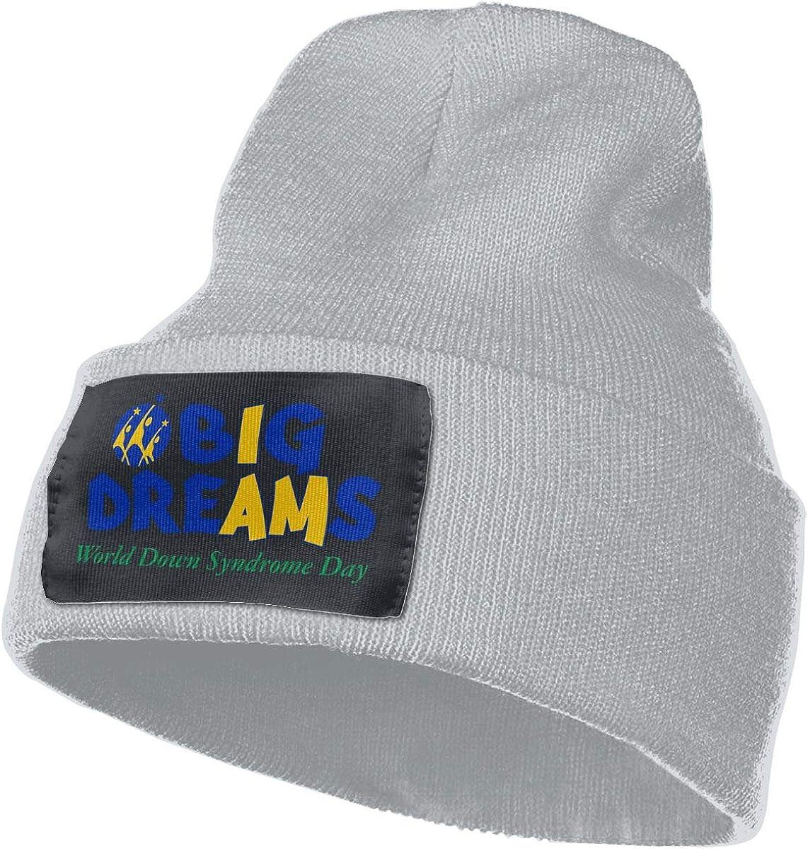 AgnWad Unisex World Down Syndrome Day Knit Cap Soft Stretch Knit Hat Cap Winter Warmer Knit Cap Winter Warm Knitting Hats