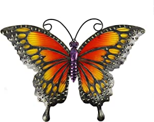"Comfy Hour 12"" Metal Art Butterfly Wall Decor"