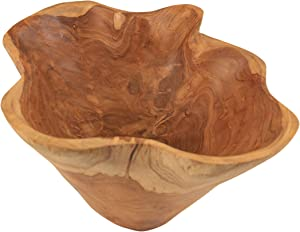 Teak Root Wood Hand Carved Bowls (Rustic Bowl)