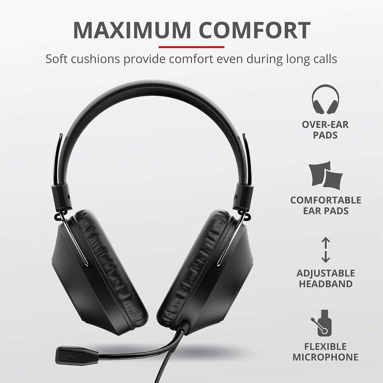 Trust Zaru Over Ear Usb Headset Mit Mikrofon Kopfhörer Elektronik