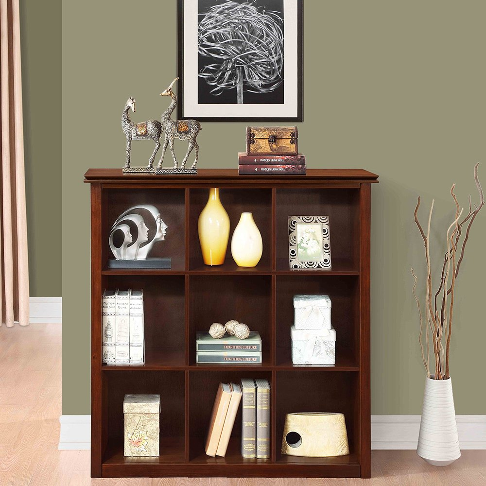 Amazon.com WYNDENHALL Stratford Auburn Brown 9 Cube Solid Wood Bookcase u0026 Storage Unit Kitchen u0026 Dining & Amazon.com: WYNDENHALL Stratford Auburn Brown 9 Cube Solid Wood ...