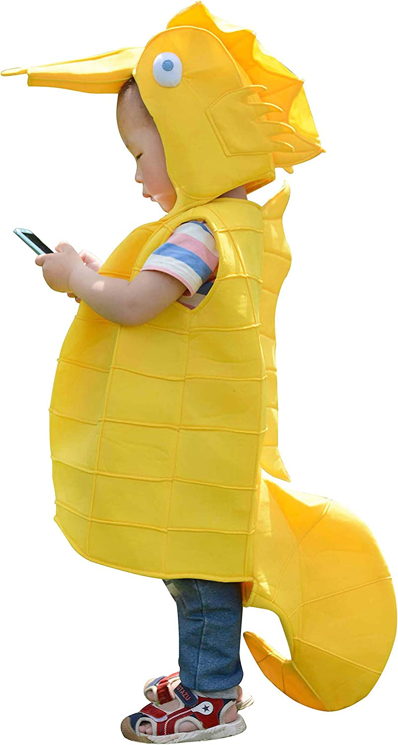 Childs Sea Horse Costume Animal Party Cosplay Halloween Cute Facny Dress Outfit Small-Kids, R-Seahorse